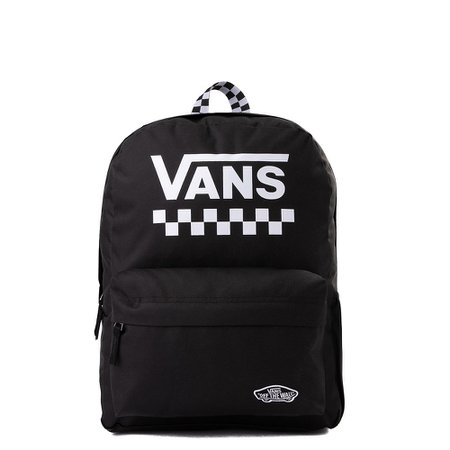Vans Sporty Realm Checkered Backpack - Black / White | Journeys