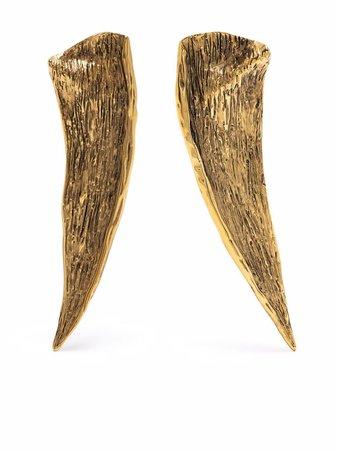 Saint Laurent Pointed Leaf clip-on earrings - FARFETCH