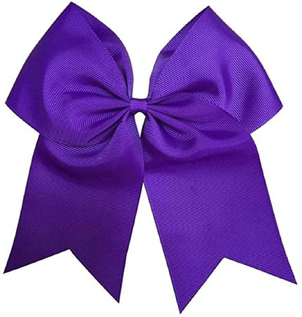 Amazon.com: Kenz Laurenz Cheer Bows Purple Cheerleading Softball - Gifts for Girls and Women Team Bow with Ponytail Holder Complete Your Cheerleader Outfit Uniform Strong Hair Ties Bands Elastics (1): Jewelry