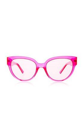 Round-Frame Acetate Sunglasses by Balenciaga | Moda Operandi