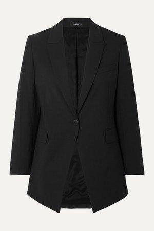 Etiennette Wool-blend Grain De Poudre Blazer - Black