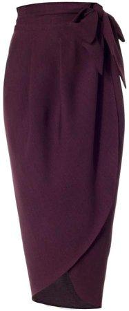 Meem Label Blake Plum Tulip Skirt