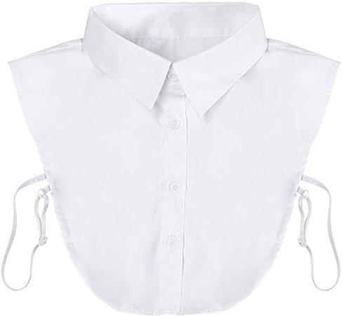 KLOLKUTTA Fake Collar Detachable Collar Blouse Dickey Collar Half Shirts False Collar for Girls and Women Favors (White) at Amazon Women's Clothing store