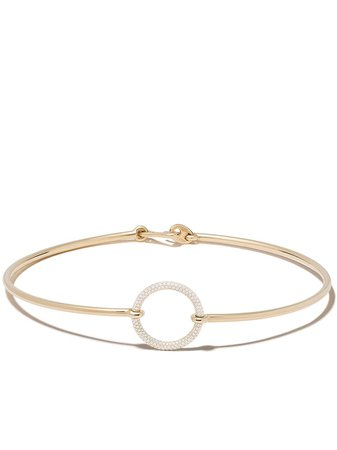 MAOR 18kt Yellow Gold Asteria Diamond Choker - Farfetch