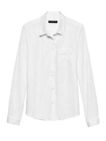 Petite Quinn Straight-Fit Oxford Shirt | Banana Republic