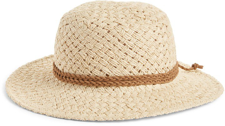 Basket Weave Boater Hat