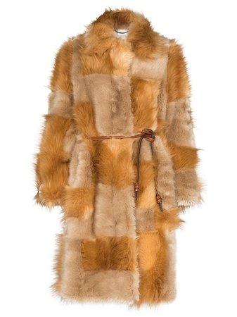 Stella McCartney Patchwork Design faux-fur Coat - Farfetch