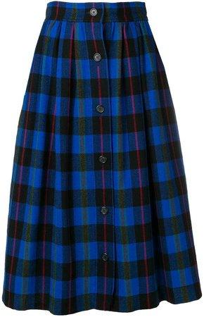 Pre-Owned checked full skirt