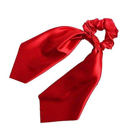 Amazon.com : Bonwete 1pcs Satin Scarf Hair Scrunchies Hair Bow Streamers Headwear Accessories For Girl Women : Beauty