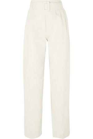 Off-White   Belted cotton straight-leg pants   NET-A-PORTER.COM