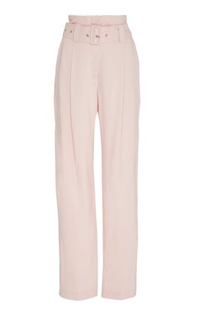Belted Stretch-Crepe Pants By Lapointe | Moda Operandi