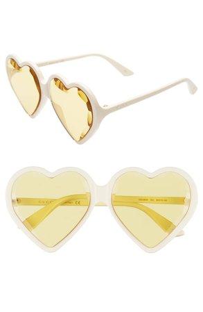 Gucci 60mm Heart Sunglasses   Nordstrom