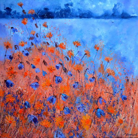 blue and orange art - Google Search