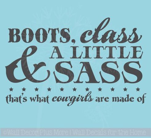 Boots and Bling It's A Cowgirl Thing Western Wall Decal Quotes for Girls Room