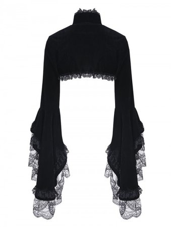 dark-in-love-black-gorgeous-gothic-velvet-short-cape-jacket-for-women.jpg (450×597)