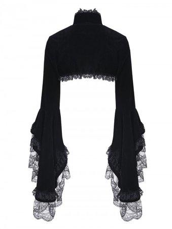 dark-in-love-black-gorgeous-gothic-velvet-short-cape-jacket-for-women.jpg (450×597)