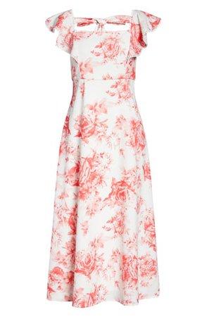 Julia Jordan | Midi Square Neck Tie Back Dress | Nordstrom Rack