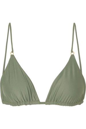 Jade Swim | Lido triangle bikini top | NET-A-PORTER.COM