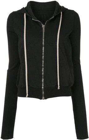 zipped long sleeve hoodie