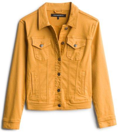 mustard jean jacket