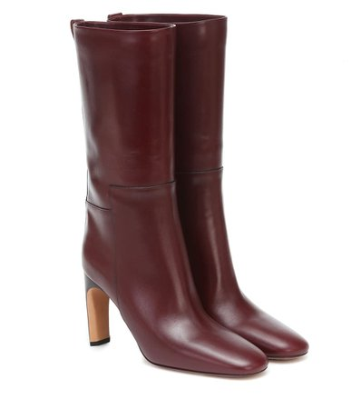 Leather Mid-Length Boots | Jil Sander - Mytheresa