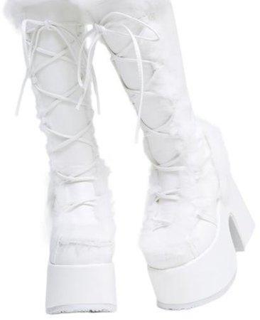 fluffy demonia boots