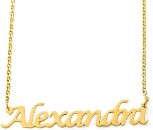 Amazon.com: Zacria Alexandra Personalized Name Necklace 18ct Gold Plated Dainty Necklace - Jewelry Gift Women, Girlfriend, Mother, Sister, Friend: Jewelry