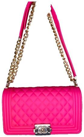 Hot Pink Chain Bag