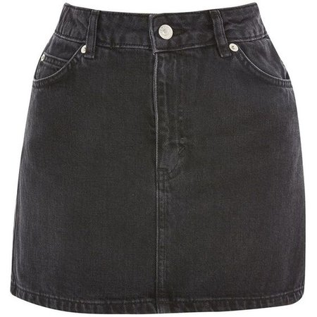 TopShop Moto Black Denim Mini Skirt