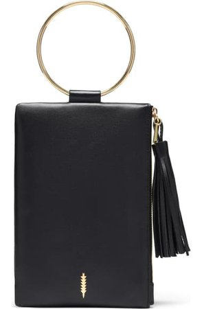 THACKER Nolita Ring Handle Leather Clutch | Nordstrom