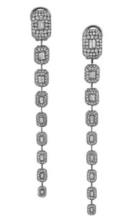 Black Gold Dangle Earring
