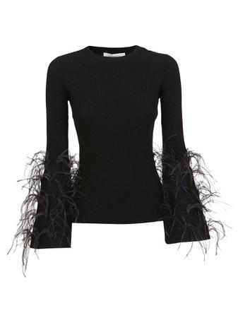 Valentino Mesh Detail Sweater
