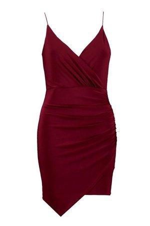 Wrap Detail Bodycon Dress | Boohoo