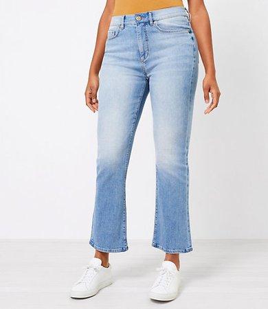 The Curvy High Waist Kick Crop Jean in Classic Indigo Wash