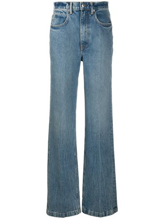 Shop blue Alexander Wang high-waisted wide leg jeans with Express Delivery - Farfetch