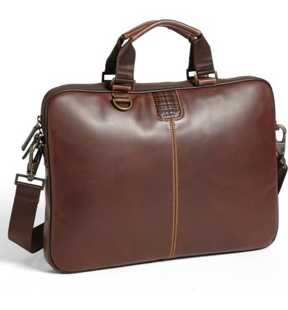 Boconi 'Bryant' Slim Leather Laptop Briefcase | Nordstrom