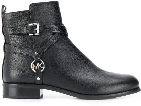 Preston buckled-harness ankle boots