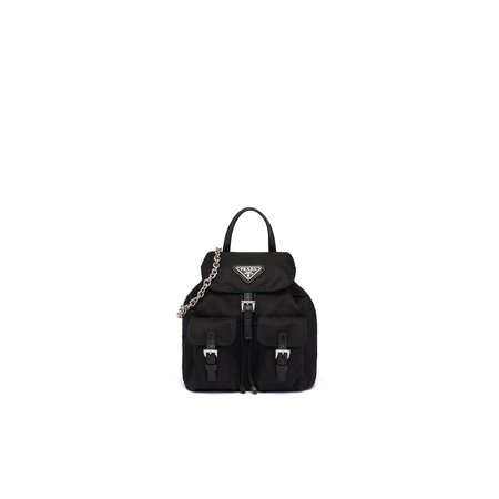 Prada mini nylon crossbody backpack