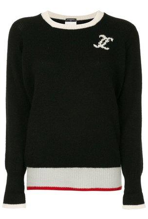 CHANEL black sweater