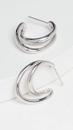 Charlotte Chesnais Mini Initial Hoop Earrings | SHOPBOP