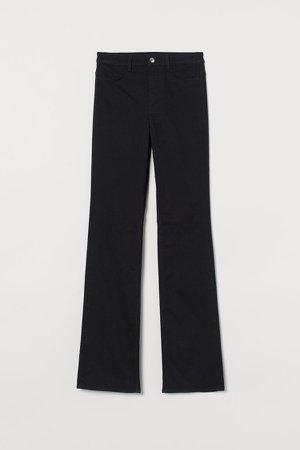 Slim Bootcut High Jeans - Black