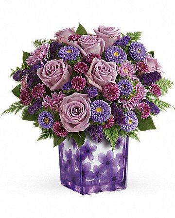 Teleflora's Happy Violets Bouquet in Belford NJ - Flower Power Florist & Gifts