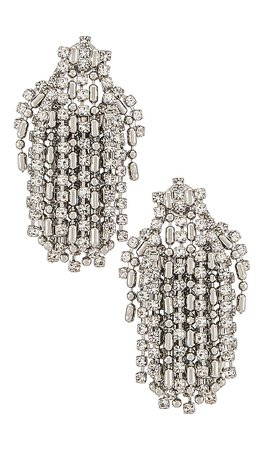DANNIJO Kane Earrings in Silver   REVOLVE