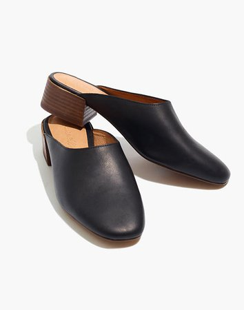 The Alicia Mule in Leather black