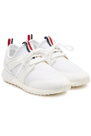 Moncler Meline Sneakers with Leather - white