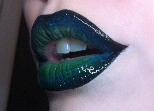 blue and green lipstick - Google Search