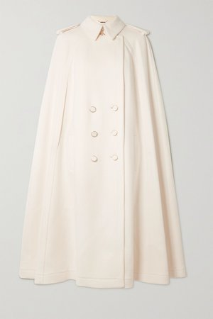 White Cape-effect double-breasted wool and cashmere-blend coat | Ralph & Russo | NET-A-PORTER