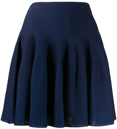 pleated high-rise mini skirt