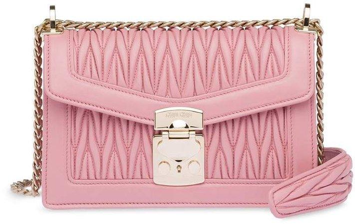 Miu Confidential matelassé leather shoulder bag