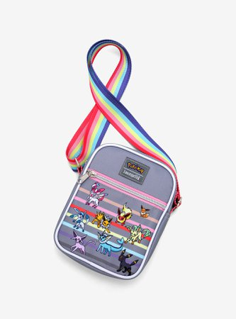 Loungefly Pokemon Eeveelutions Rainbow Athletic Crossbody Bag